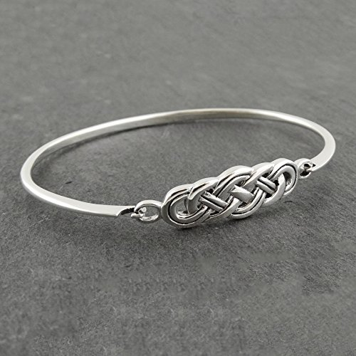 Sterling Silver Celtic Knot Bangle Bracelet