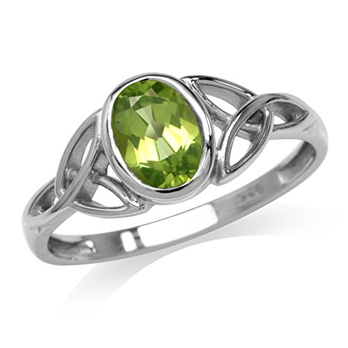 white gold plated with peridot stone ring