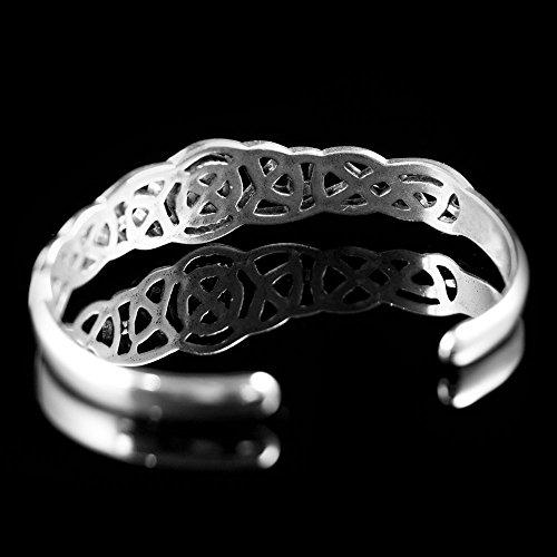 Sterling Silver Celtic Knot Weave Cuff Bracelet