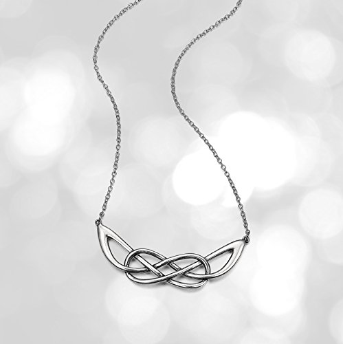 """Sterling Silver Celtic Knot Infinity Loop Necklace, 18"""""""