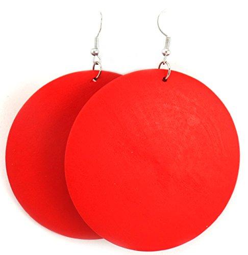 Wooden Earrings - Wood Earrings - Ethnic Earrings - Circle Earrings - Geometric Earrings