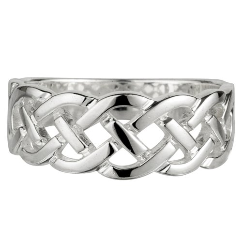 Celtic Knot Ring Sterling Silver Made in Ireland