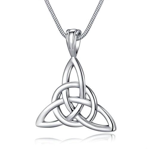 925 Sterling Silver Earrings Good Luck Polished  Irish Celtic Knot Vintage Dangles for Women Girls