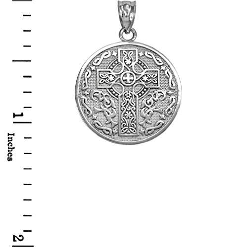 925 Sterling Silver Reversible Irish Blessing Pendant Necklace