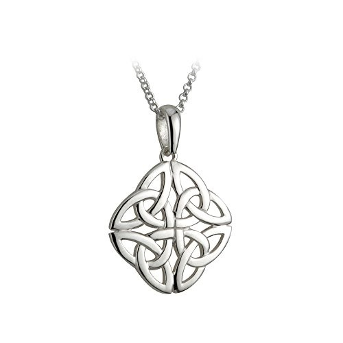Celtic Knot Necklace Sterling Silver Irish Made