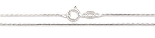 Sterling Silver Magic Round Snake Chain CHOOSE WIDTH/LENGTH Solid 925 Italy Necklace