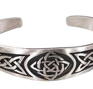 Dan's Jewelers Classic Celtic Knot Bracelet with Irish Design, Fine Pewter Jewelry