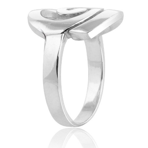 MIMI Sterling Silver Large Open Celtic Swirl Ring