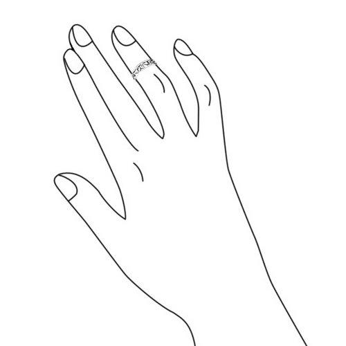 925 Silver Mid Finger Ring Adjustable Celtic Swirl Toe Rings
