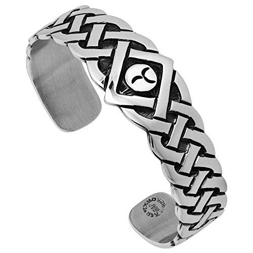 Sterling Silver Celtic Knot Cuff Bracelet Handmade 7.25 inch