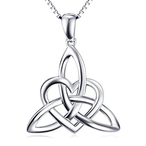 Sterling Silver Irish Celtic Knot Claddagh Lover Heart Shaped Pendant Necklace Bracelet