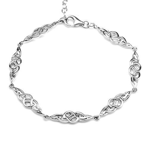 925 Sterling Silver Celtic Knot 7.25-8.75 Inch Adjustable Bracelet
