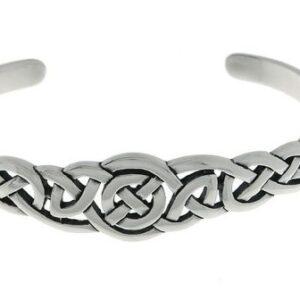 Jewelry Trends Sterling Silver Celtic Round Knot Bangle Bracelet