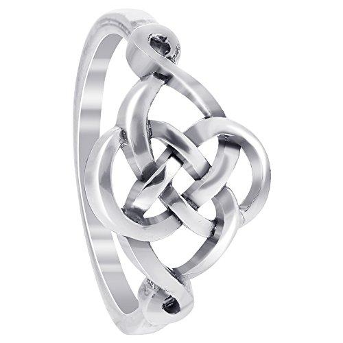 925 Sterling Silver Celtic Knot Design Ring