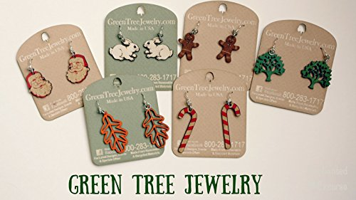 Green Tree Jewelry - Renewable Natural Wood Earrings