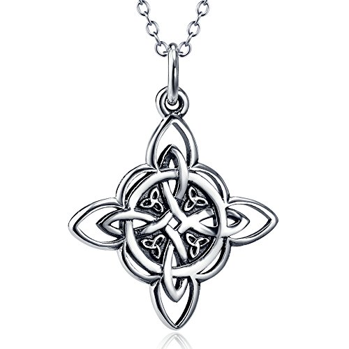 Furious Jewelry 925 Sterling Silver Celtic Triquetra Trinity Knot Good Luck Pendant Necklace