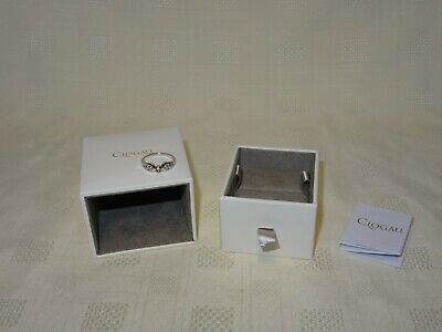NEW Welsh Clogau Silver & Rose Gold Royal Crown Diamond Ring Size M RRP £229